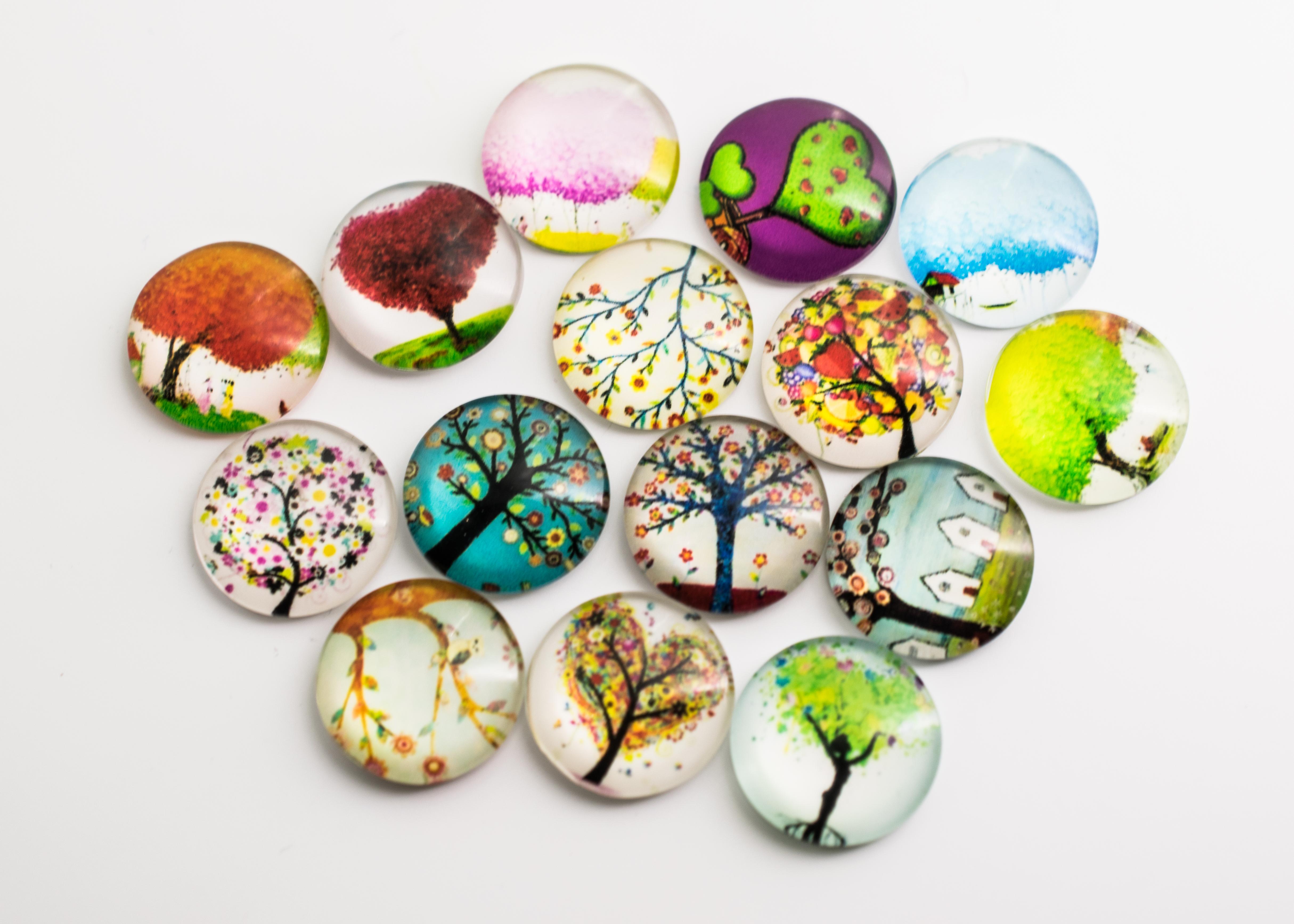 Картинки для стеклянных кабошонов заполненная